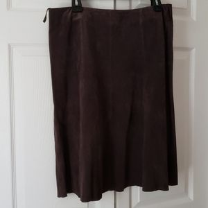 Plum purple suede skirt size 10 a-line